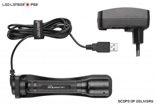 LED LENSER P5R LED Taschenlampe mit Akku und Ladegerät