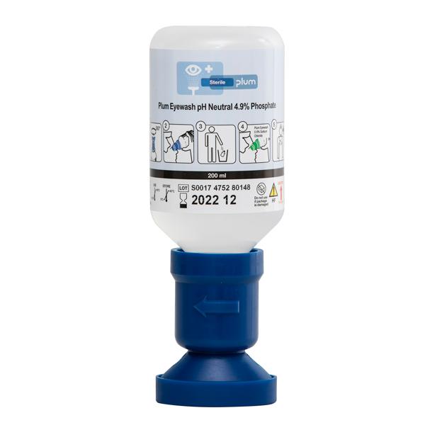 Plum Augenspülflasche, 200ml, pH-neutral Pufferlösung