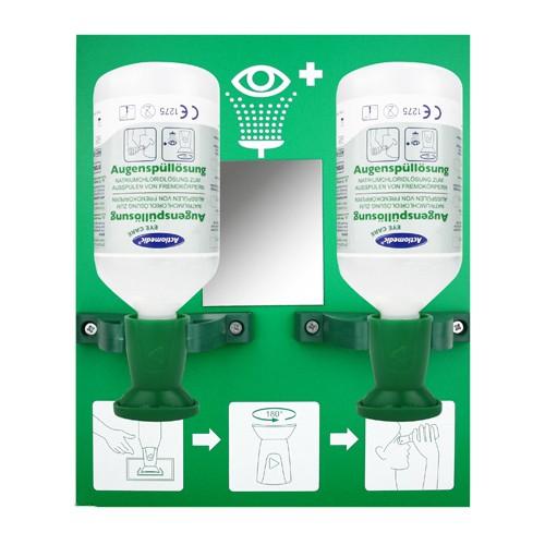 Augenspülstation DOUBLE 1 inkl. 2x NaCl 500ml