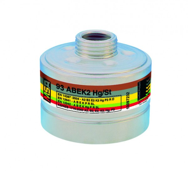 MSA Kombinationsfilter 93ABEK2-Hg/St, A2B2E2K2Hg-P3 R D