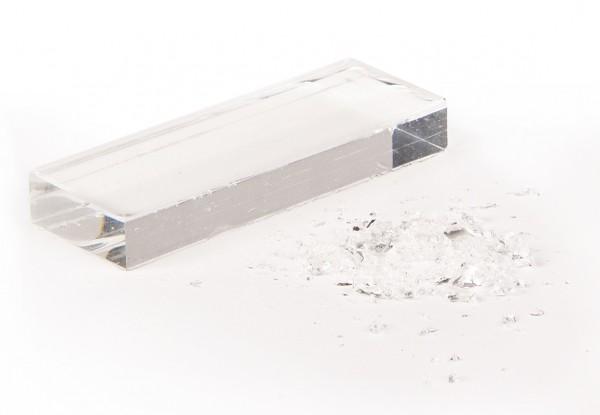 Kunstglas zur Splittersimulation