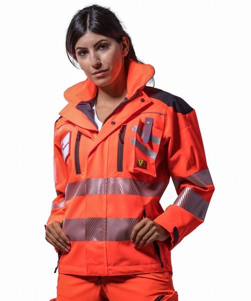 Rettungsdienst Einsatzjacke COMANDER 4 in tagesleuchtrot - SUTURA®
