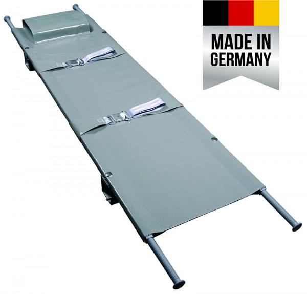 Krankentrage nach DIN 13024-N - 1x längs klappbar, mit 4 Gleitfüßen