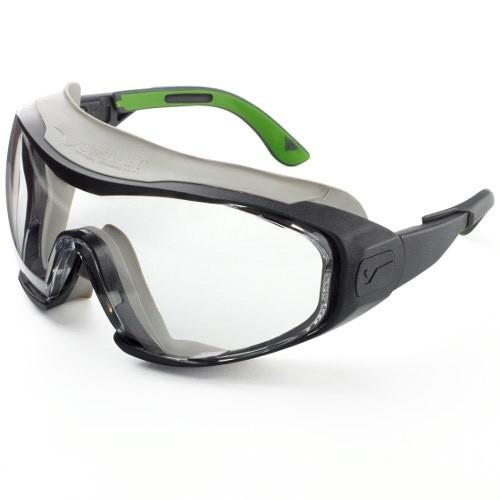 Univet Vollschutzbrille klar Gunmetal/Grün
