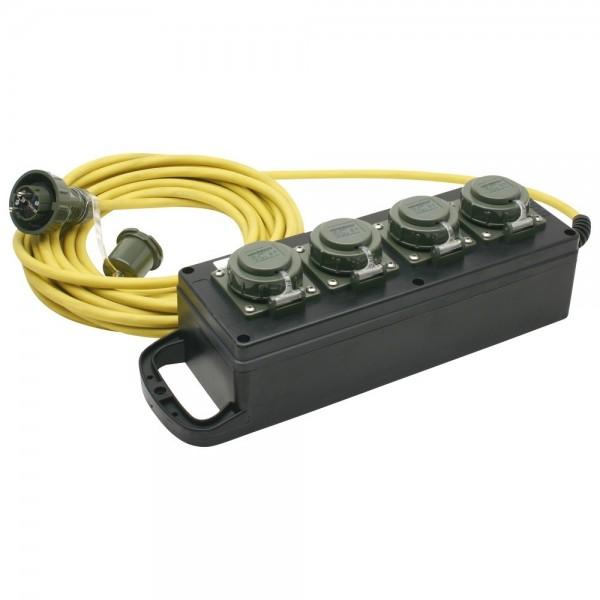 Mennekes Vierfach-Steckdosenleiste 230 V, 16 A, 370 x 135 x 95 mm