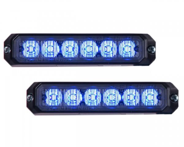 LED Frontblitzerset MS6 mit ECE-R65 Zulassung