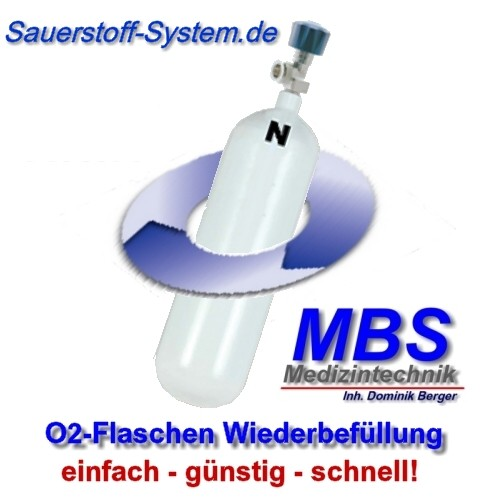 Austausch leerer Sauerstoffflaschen im MBS O2 Pool System