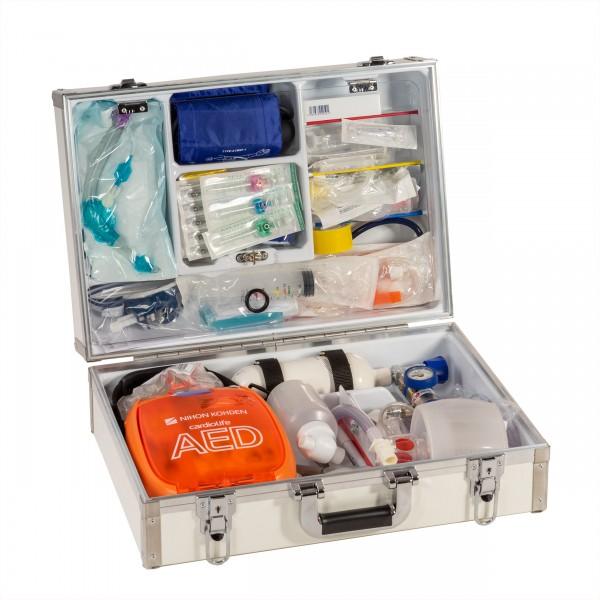 Notfallkoffer EUROsafe AED mit kompletter Füllung