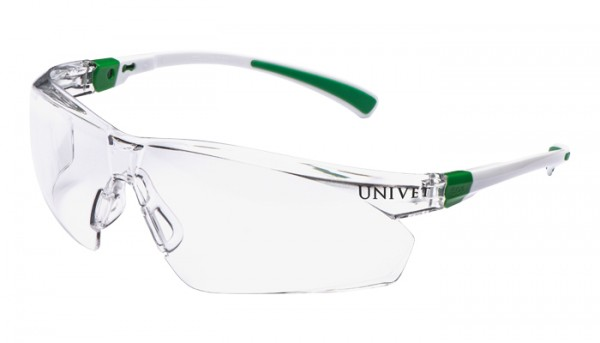UNIVET medizinische Schutzbrille 506 Klar/grün