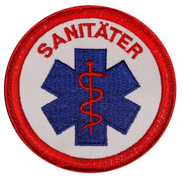Emblem mit Star-of-Life gestickt mit Klett - verschiedene Beschriftungen erhältlich