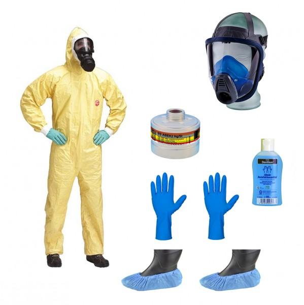 PSA ABC-Schutzanzug Komplett Set - Profi - (Persönliche Schutzausrüstung) - High-Risk
