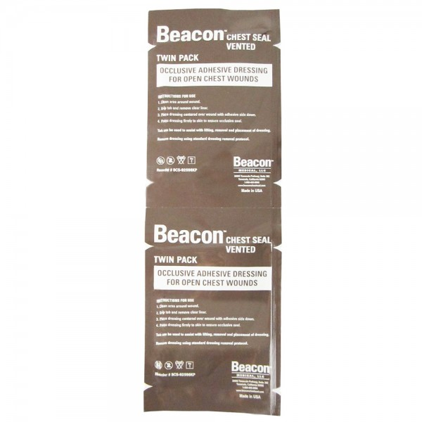 Beacon™ Chestseal Thorax Pflaster mit Ventilen Twin-Pack