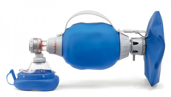 Ambu Mark IV Beatmungsbeutel mit Silikonbeatmungsmaske und Reservoir im Set