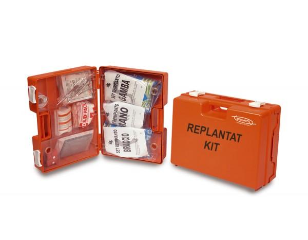 Replantations-Kit groß im orangen Kunststoffkoffer gefüllt