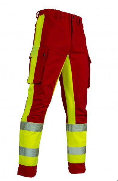 Einsatzhose Rettungsdienst OMEGA dunkelrot/tagesleuchtgelb