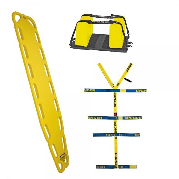 Spineboard Komplettset XTRA mit 10-Punktfixierspinne und Headfix