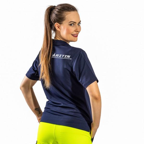 SUTURA Polo-Shirt für Damen mit Reflexbeschriftung EKG NOTÄRZTIN