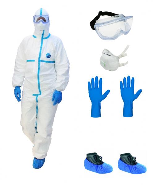 PSA Infektionsschutz Komplett Set - Basic - (Persönliche Schutzausrüstung) - High-Risk