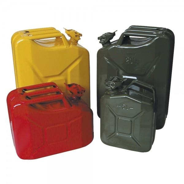 Stahlblech-Benzinkanister - verschiedene Größen