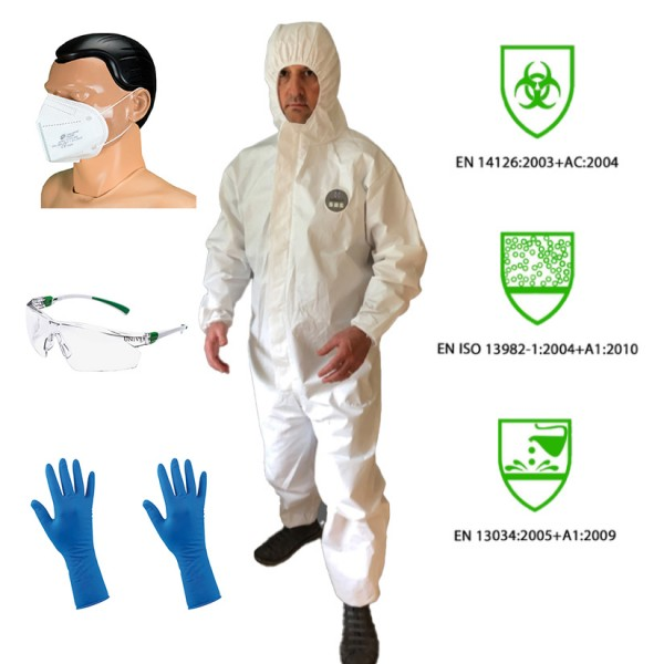 PSA Infektionsschutz Komplett Set - Economic - (Persönliche Schutzausrüstung) Gr. XL