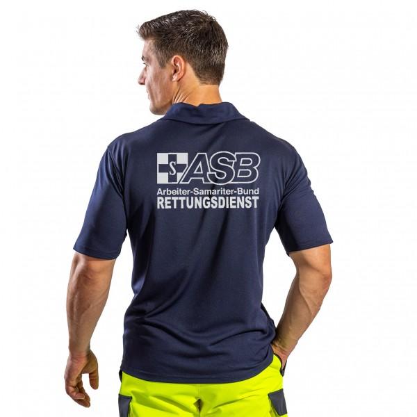 SUTURA Polo-Shirt mit Reflexbeschriftung ASB Rettungsdienst Logo