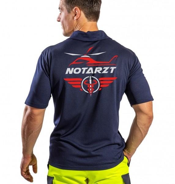 SUTURA Polo-Shirt - Air-Master Logo mit NOTARZT Schriftzug