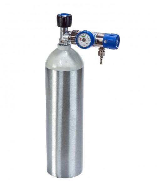 Sauerstoff-Komplett-Set - Druckminderer und Flasche 2 Liter