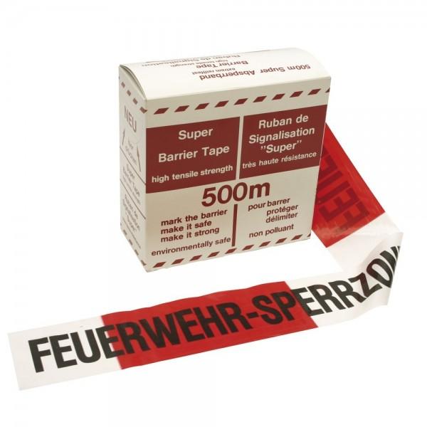 Absperrband, Farbe rot/weiß - 500m - FEUERWEHR-SPERRZONE