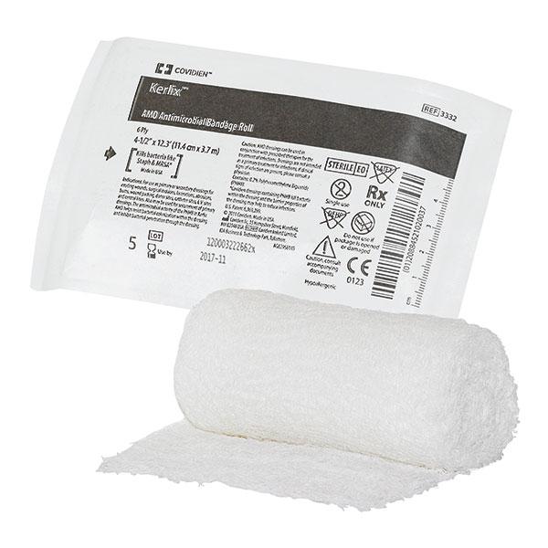 Kerlix™ AMD Antimikrobielle Gauze | 0,2 % Polyhexamethylen-Biguanid | 11,4 cm x 3,7 m