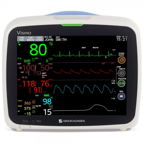 "Nihon Kohden VISMO 10,4"" Patientenmonitor, EKG, SpO2, NIBP, Temperatur"