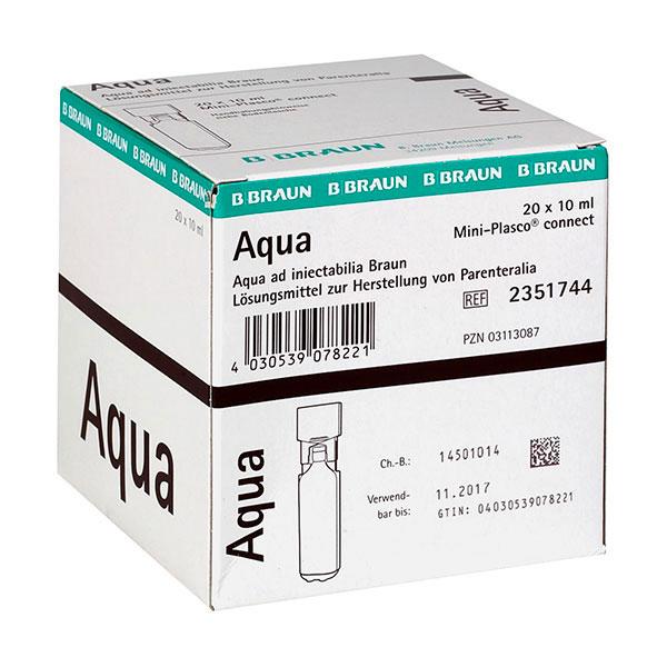 Aqua ad iniectabilia Mini-Plasco® connect - 20 Stk/10ml