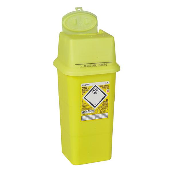 Sharpsafe® Abfallcontainer eckig - 2 Liter
