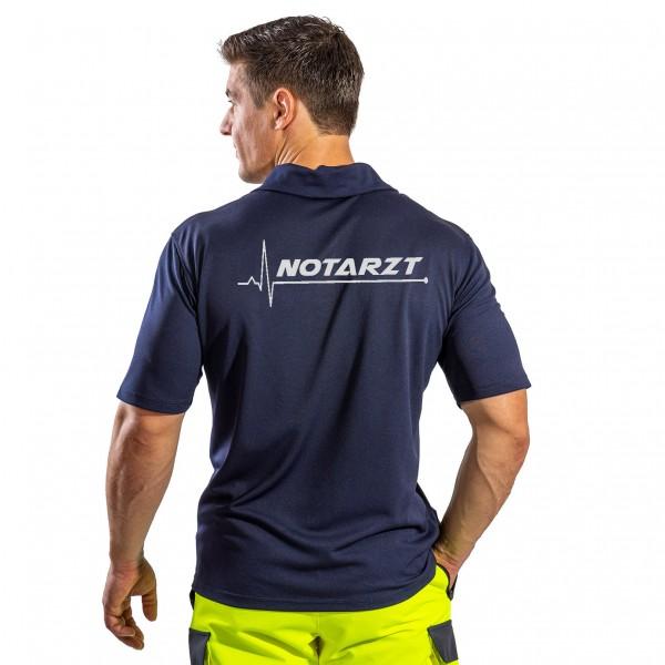 SUTURA Polo-Shirt mit Reflexbeschriftung EKG NOTARZT