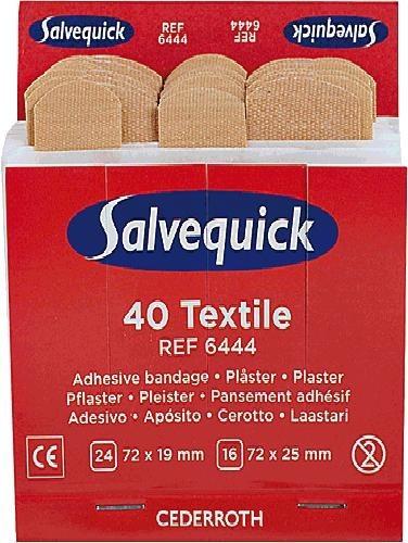 Salvequick® Nachfülleinsätze 40x elastisch 6444
