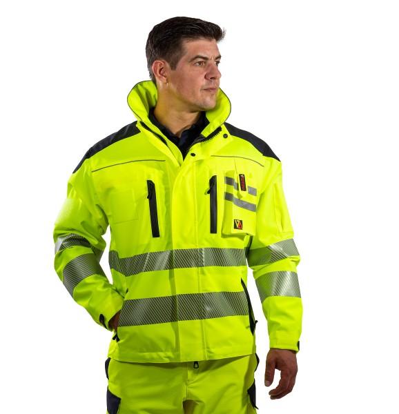 Rettungsdienst Einsatzjacke COMANDER 4 in tagesleuchtgelb - SUTURA®