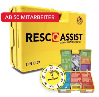 Verbandkoffer RescQassist Q100 gefüllt nach DIN 13169