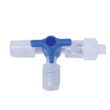 Dreiwegehahn - blau